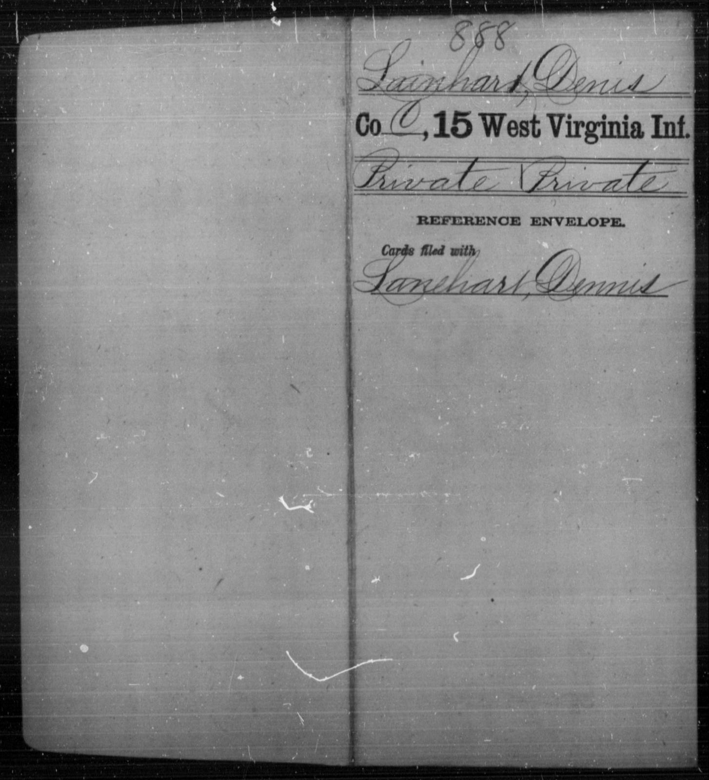 Lainhart, Denis - Age [Blank], Year: [Blank] - Fifteenth Infantry - West Virginia