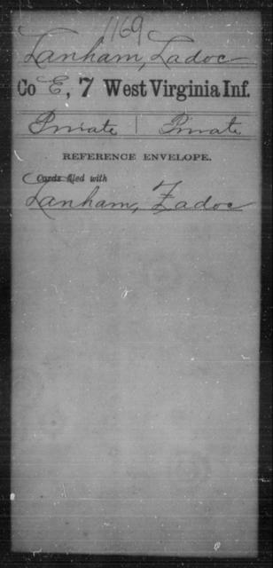 Lanham, Ladoc - Age [Blank], Year: [Blank] - Seventh Infantry - West Virginia