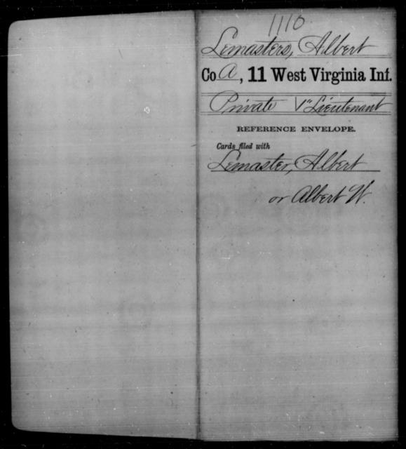 Lemasters, Albert - Age [Blank], Year: [Blank] - Eleventh Infantry - West Virginia