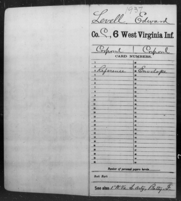 Levell, Edward - Age [Blank], Year: [Blank] - Sixth Infantry - West Virginia