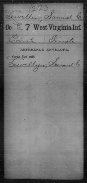 Lewellen, Samuel C - Age [Blank], Year: [Blank] - Seventh Infantry - West Virginia