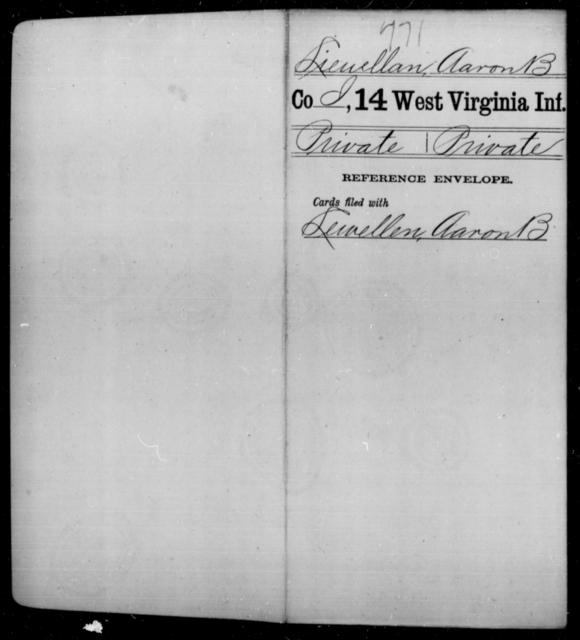 Lieuellan, Aaron B - Age [Blank], Year: [Blank] - Fourteenth Infantry, C-Z - West Virginia