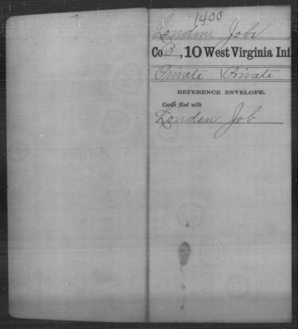 Loudin, Jobe - Age [Blank], Year: [Blank] - Tenth Infantry - West Virginia