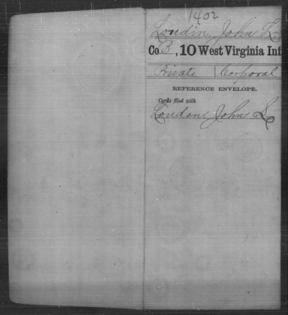 Loudin, John L - Age [Blank], Year: [Blank] - Tenth Infantry - West Virginia