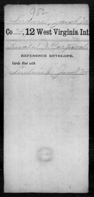 Ludwic, Jacob M - Age [Blank], Year: [Blank] - Twelfth Infantry - West Virginia