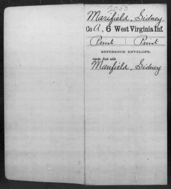 Marifield, Sidney - Age [Blank], Year: [Blank] - Sixth Infantry - West Virginia
