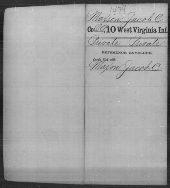 Maxson, Jacob C - Age [Blank], Year: [Blank] - Tenth Infantry - West Virginia