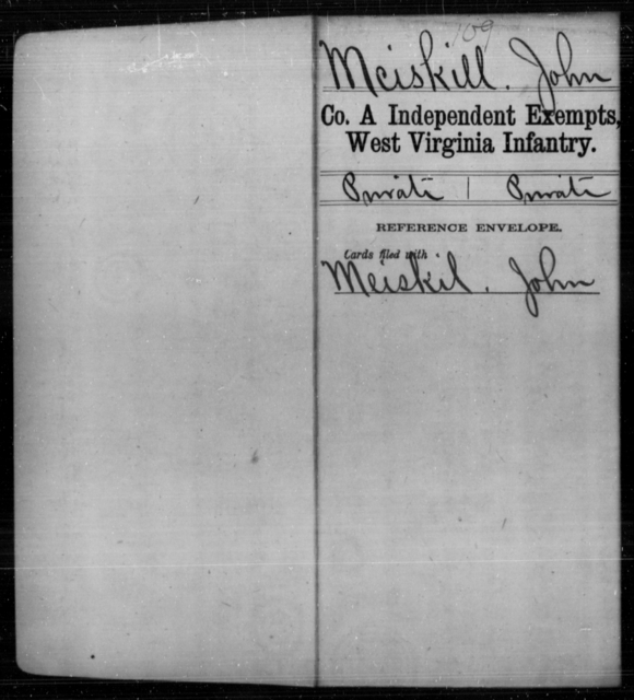 Mciskill, John - Age [Blank], Year: [Blank] - Independent Company A, Infantry AND Independent Company B, Infantry AND Unassigned Men, M-S - West Virginia