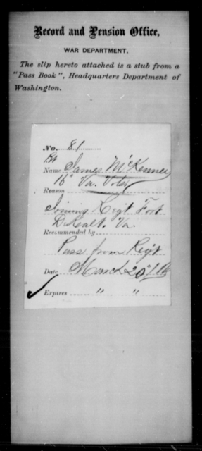 McKenney, James - Age [Blank], Year: [Blank] - Personal Papers Arranged by Organizations - West Virginia