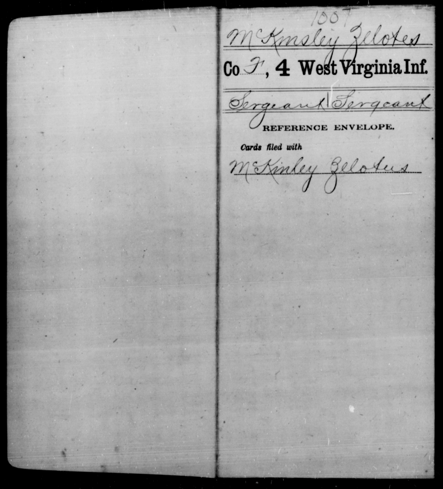 McKmsley, Zelotes - Age [Blank], Year: [Blank] - Fourth Infantry, Bo-Z - West Virginia