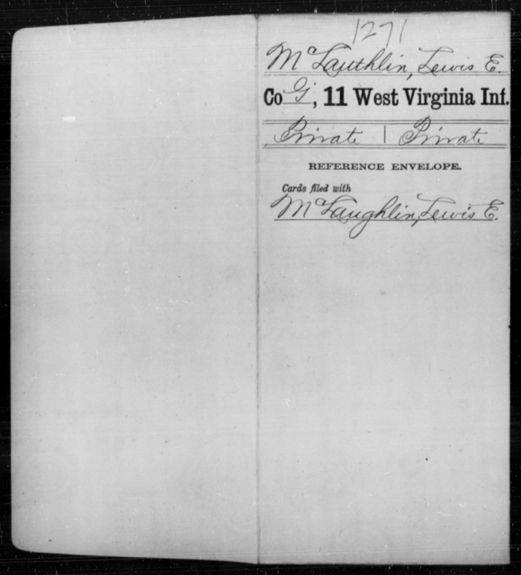 McLauthlin, Lewis E - Age [Blank], Year: [Blank] - Eleventh Infantry - West Virginia