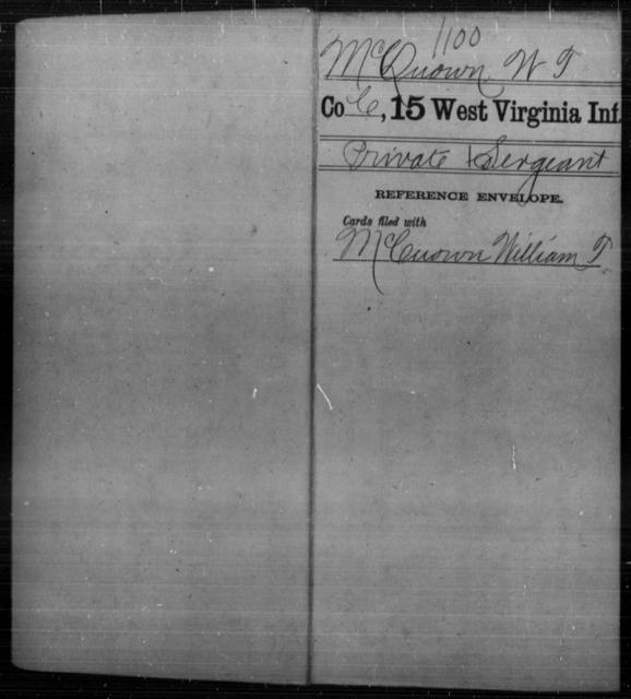 McQuown, W T - Age [Blank], Year: [Blank] - Fifteenth Infantry - West Virginia