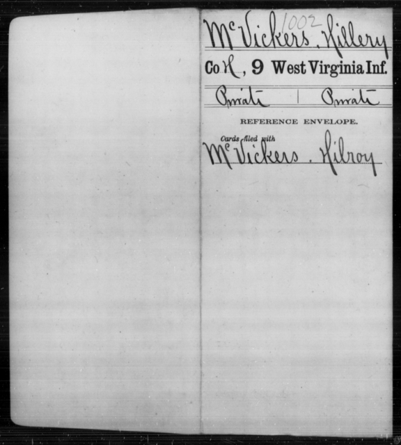 McVickers, Hillery - Age [Blank], Year: [Blank] - Ninth Infantry - West Virginia