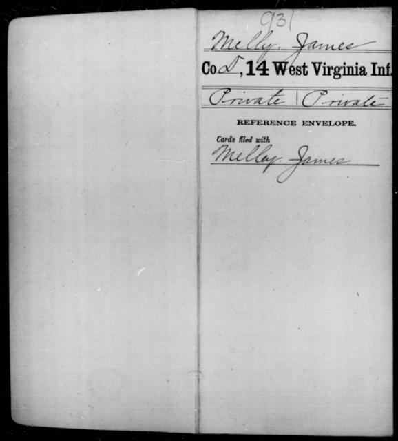 Melly, James - Age [Blank], Year: [Blank] - Fourteenth Infantry, C-Z - West Virginia