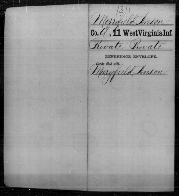 Merrifield, Anson - Age [Blank], Year: [Blank] - Eleventh Infantry - West Virginia