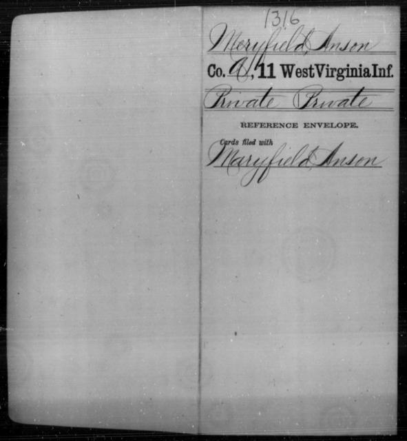 Meryfield, Anson - Age [Blank], Year: [Blank] - Eleventh Infantry - West Virginia