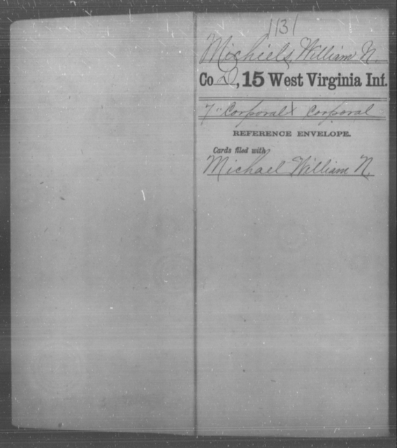 Michiels, William N - Age [Blank], Year: [Blank] - Fifteenth Infantry - West Virginia