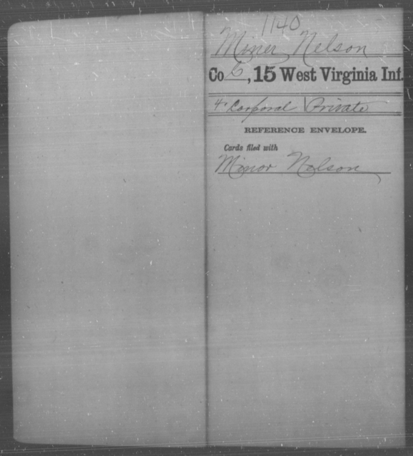 Miner, Nelson - Age [Blank], Year: [Blank] - Fifteenth Infantry - West Virginia