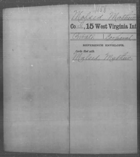 Molsed, Mathew - Age [Blank], Year: [Blank] - Fifteenth Infantry - West Virginia