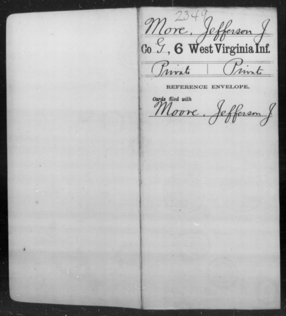 More, Jefferson J - Age [Blank], Year: [Blank] - Sixth Infantry - West Virginia