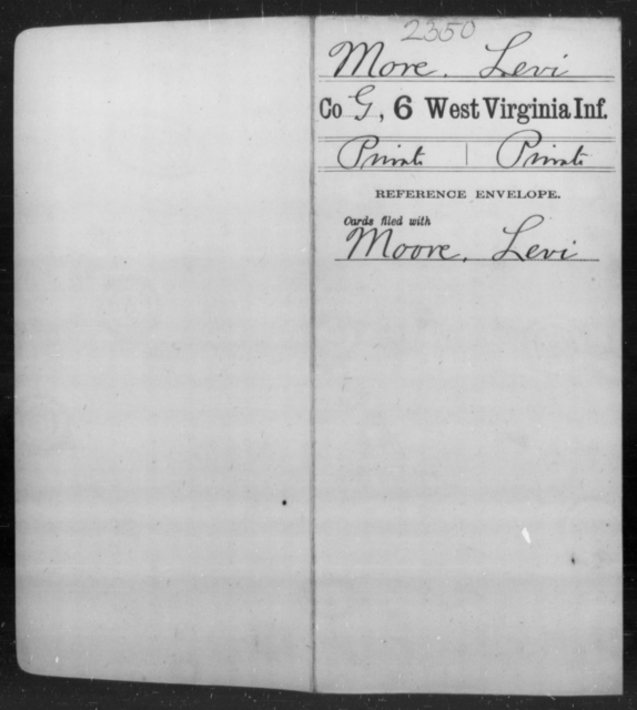 More, Levi - Age [Blank], Year: [Blank] - Sixth Infantry - West Virginia
