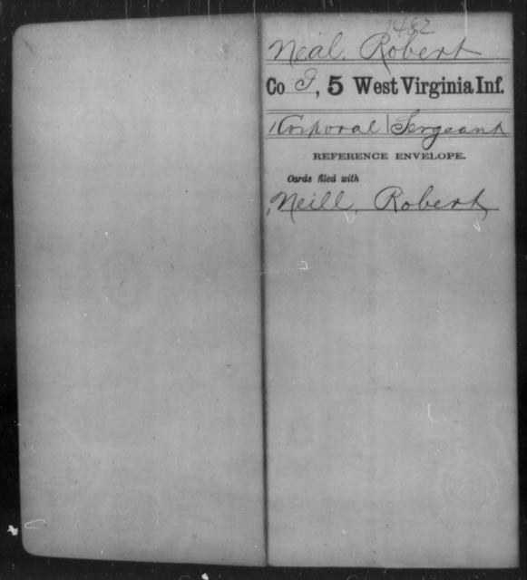 Neal, Robert - Age [Blank], Year: [Blank] - Fifth Infantry - West Virginia