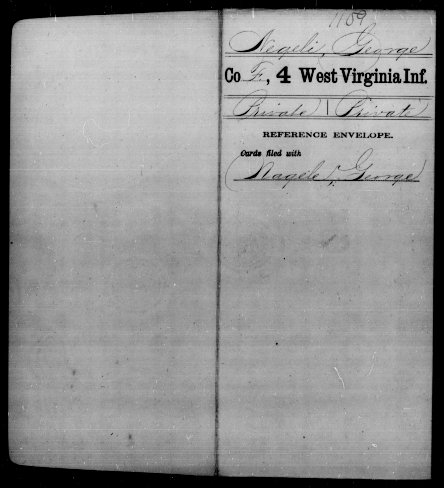 Negeli, George - Age [Blank], Year: [Blank] - Fourth Infantry, Bo-Z - West Virginia