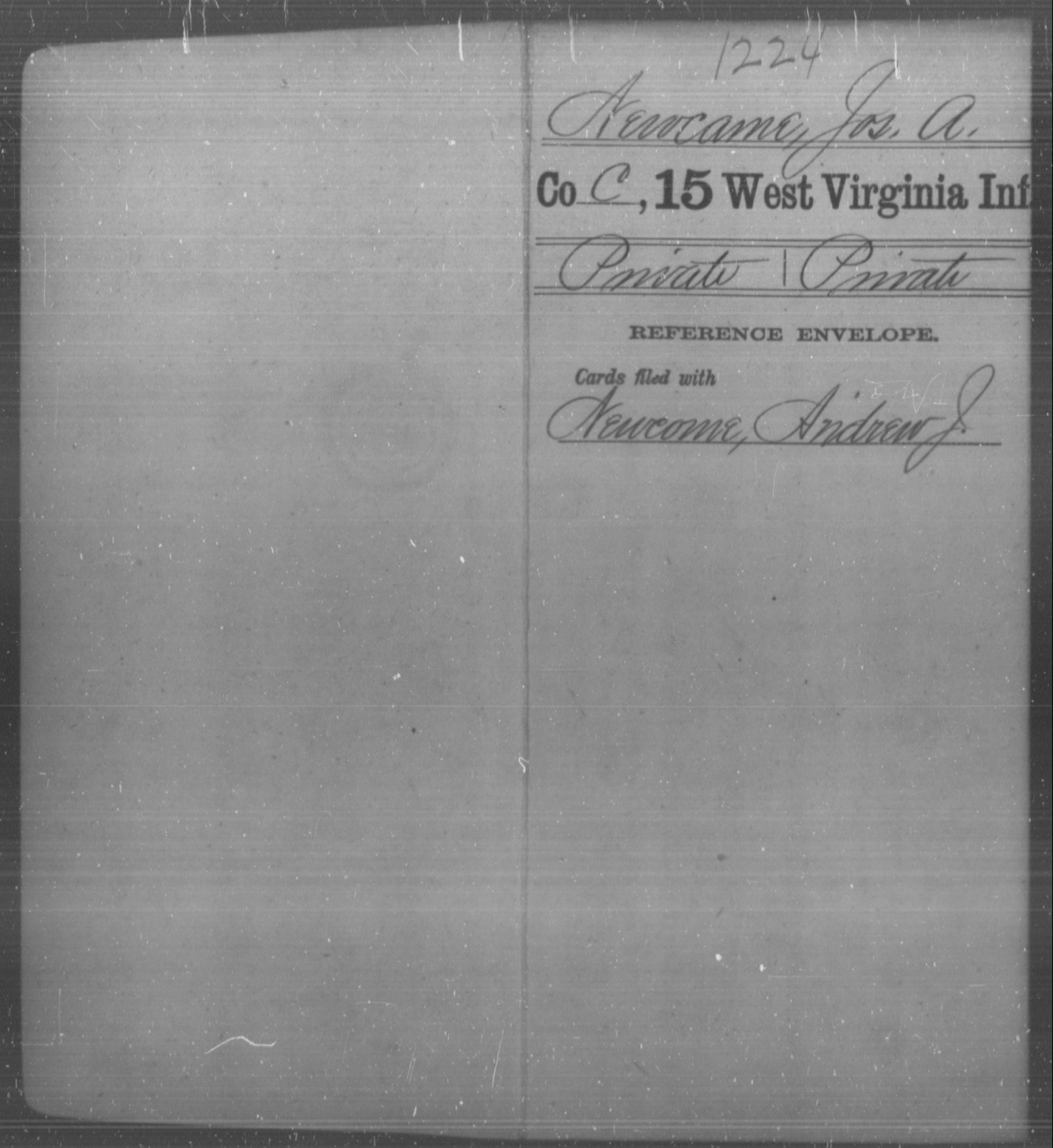 Newcame, Jos A - Age [Blank], Year: [Blank] - Fifteenth Infantry - West Virginia