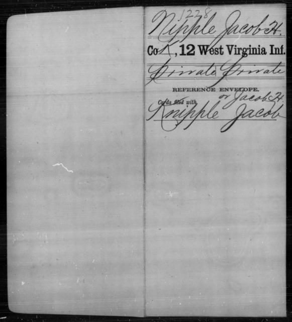 Nipple, Jacob H - Age [Blank], Year: [Blank] - Twelfth Infantry - West Virginia