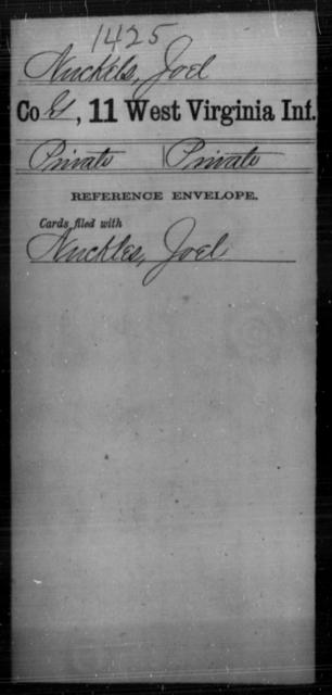 Nuckels, Joel - Age [Blank], Year: [Blank] - Eleventh Infantry - West Virginia
