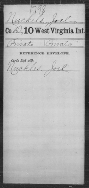 Nuckels, Joel - Age [Blank], Year: [Blank] - Tenth Infantry - West Virginia