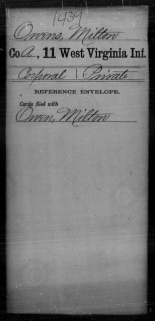 Owens, Milton - Age [Blank], Year: [Blank] - Eleventh Infantry - West Virginia