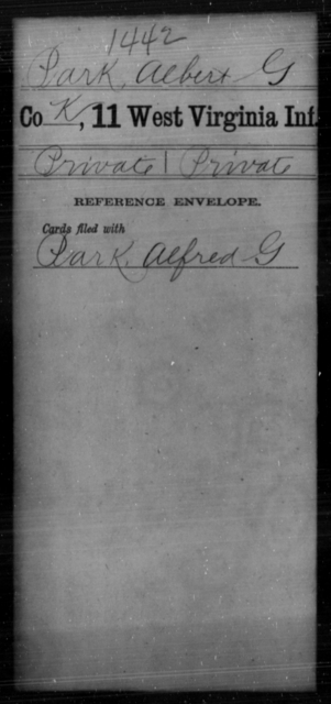 Park, Albert G - Age [Blank], Year: [Blank] - Eleventh Infantry - West Virginia