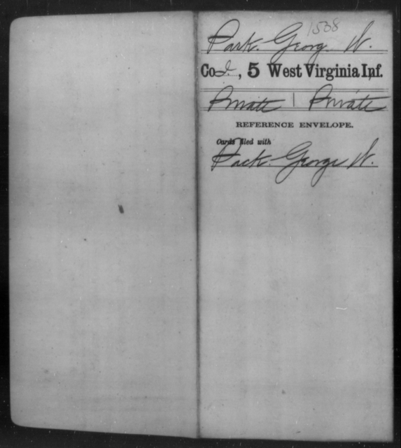 Park, George W - Age [Blank], Year: [Blank] - Fifth Infantry - West Virginia