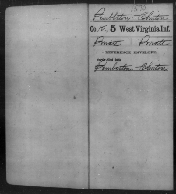 Pembleton, Clinton - Age [Blank], Year: [Blank] - Fifth Infantry - West Virginia