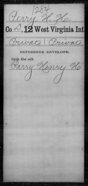 Perry, H H - Age [Blank], Year: [Blank] - Twelfth Infantry - West Virginia