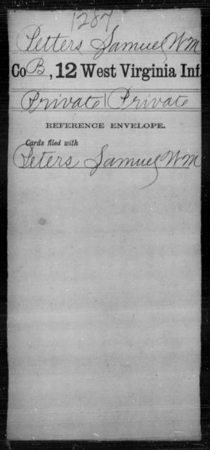 Petters, Samuel W M - Age [Blank], Year: [Blank] - Twelfth Infantry - West Virginia