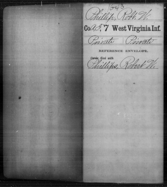 Phillip, Robt W - Age [Blank], Year: [Blank] - Seventh Infantry - West Virginia