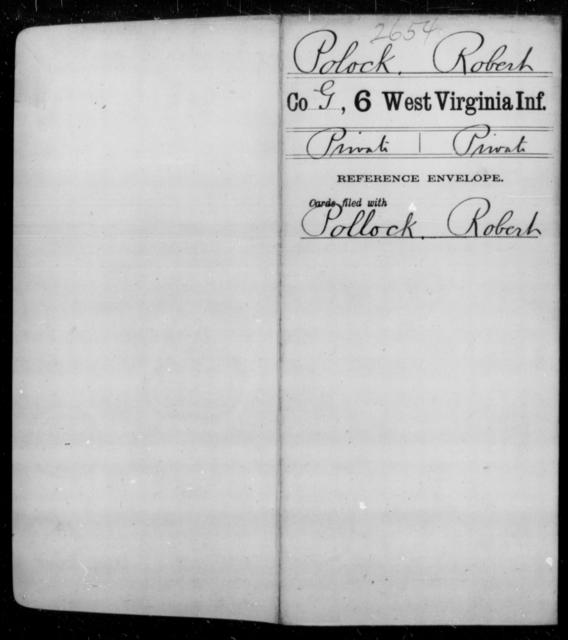 Polock, Robert - Age [Blank], Year: [Blank] - Sixth Infantry - West Virginia