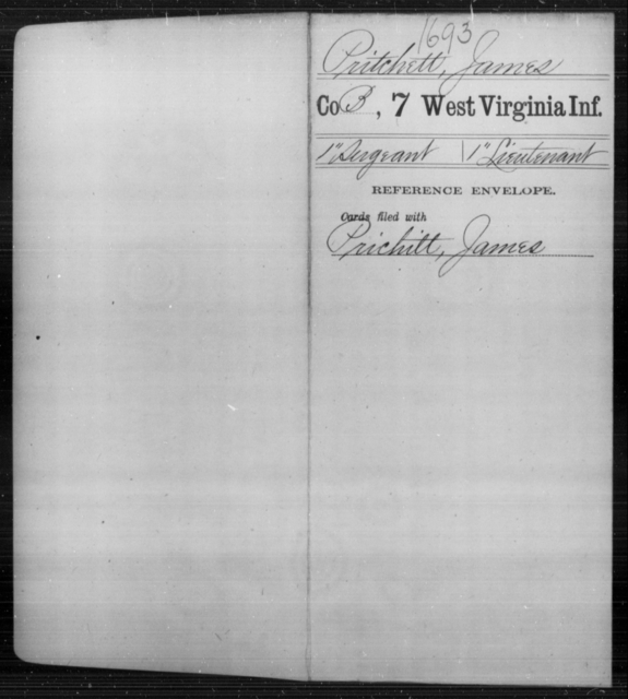 Pritchett, James - Age [Blank], Year: [Blank] - Seventh Infantry - West Virginia