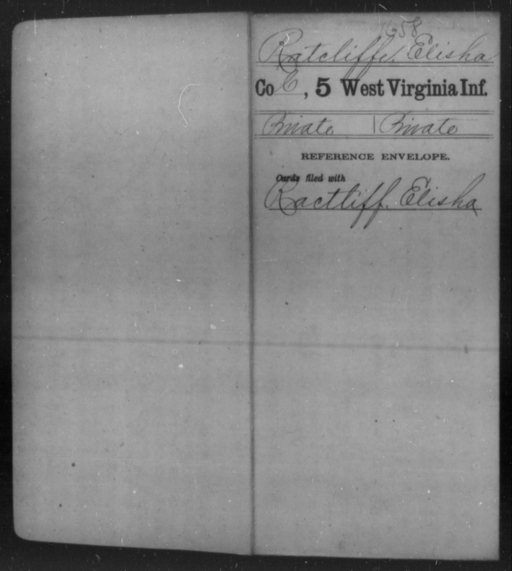 Ratcliffe, Elisha - Age [Blank], Year: [Blank] - Fifth Infantry - West Virginia
