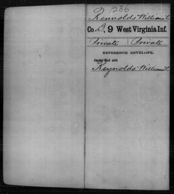 Rennolds, William L - Age [Blank], Year: [Blank] - Ninth Infantry - West Virginia