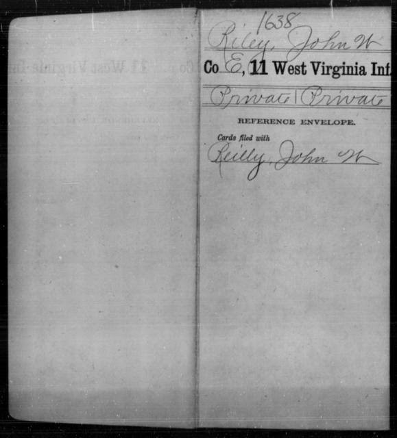 Riley, John W - Age [Blank], Year: [Blank] - Eleventh Infantry - West Virginia