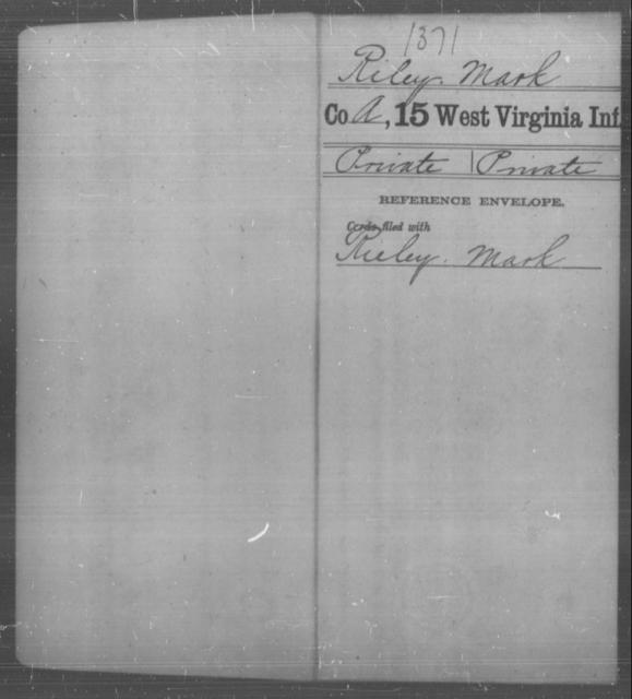 Riley, Mark - Age [Blank], Year: [Blank] - Fifteenth Infantry - West Virginia