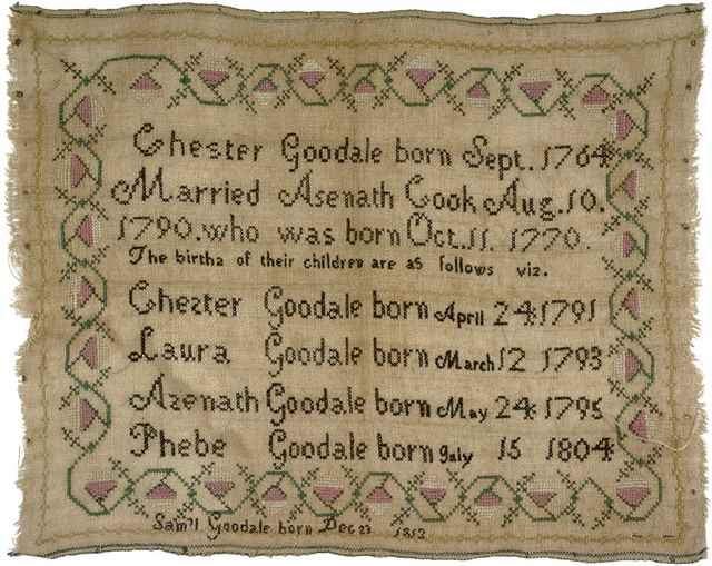 Sampler of Chester Goodale