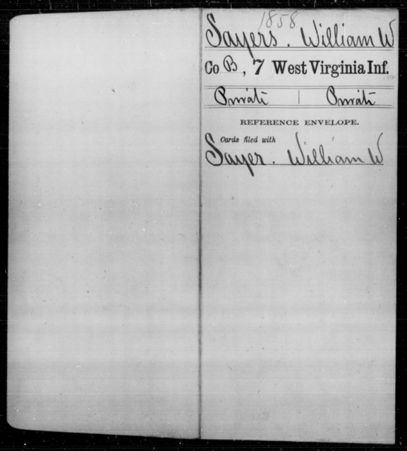 Sayers, William W - Age [Blank], Year: [Blank] - Seventh Infantry - West Virginia