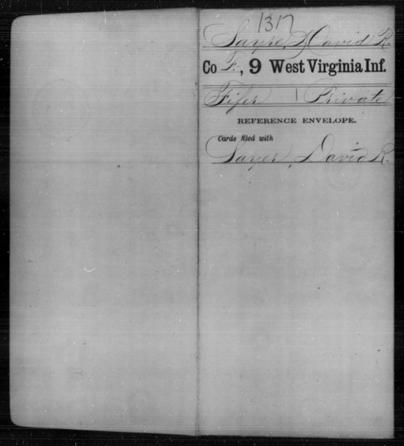 Sayre, David R - Age [Blank], Year: [Blank] - Ninth Infantry - West Virginia