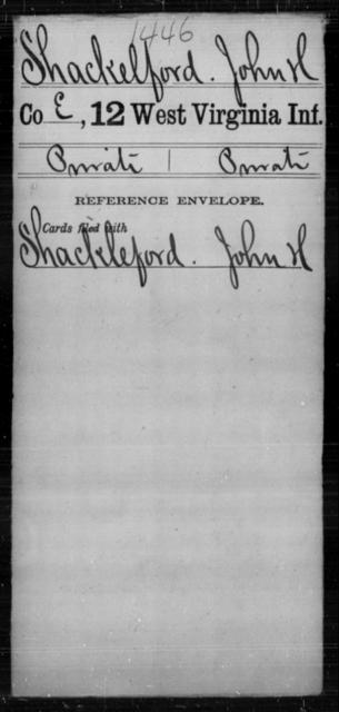Shackelford, John H - Age [Blank], Year: [Blank] - Twelfth Infantry - West Virginia