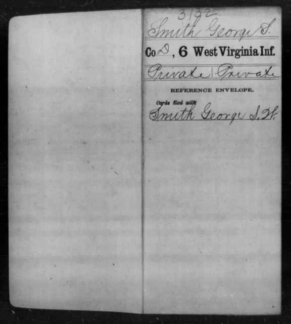Smith, George S - Age [Blank], Year: [Blank] - Sixth Infantry - West Virginia