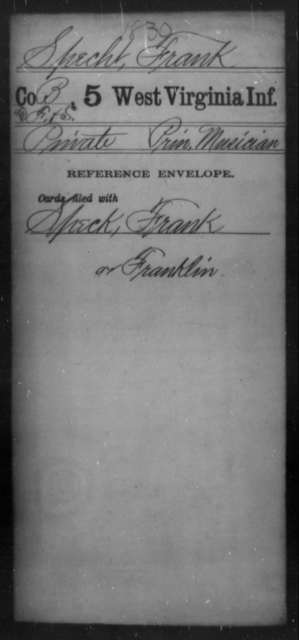 Specht, Frank - Age [Blank], Year: [Blank] - Fifth Infantry - West Virginia